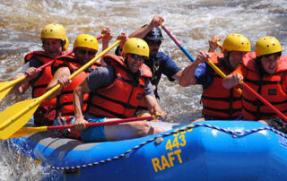 White water rafting at the Nile river