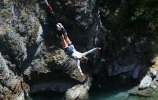 Bungee jumping at the source of the Nile