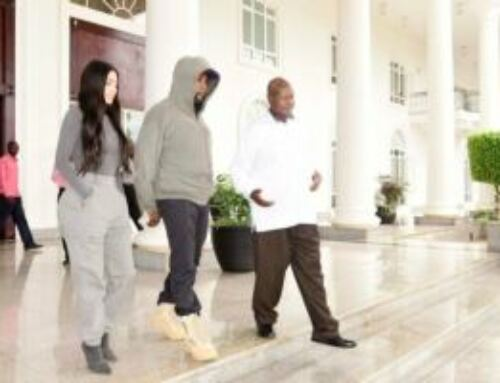Kanye West and Kim Kardashian visit Uganda